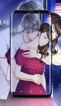 Anime Couple Kissing Wallpaper Screenshot 3