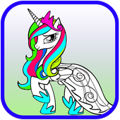 How To Color My Little Pony Adult Game icon