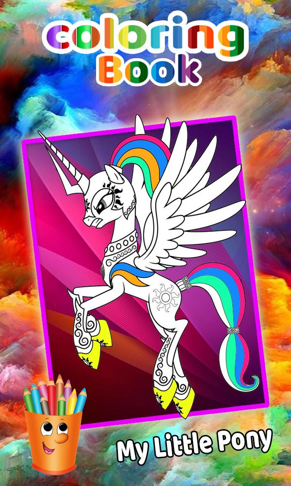 How To Color My Little Pony Adult Game poster