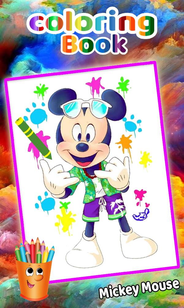 How To Color Mickey Mouse Minnie Adult Game poster