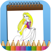 How To Color Tangled Adult Game icon