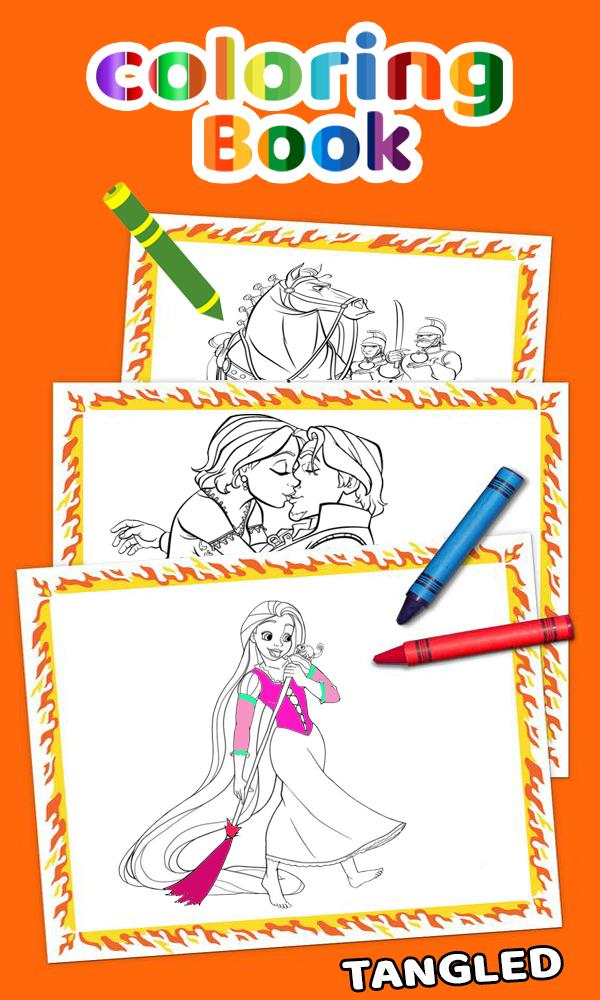How To Color Tangled Adult Game poster