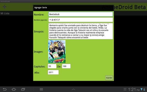 AnimeDroid Beta screenshot 1