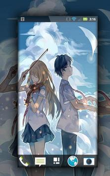 Shigatsu wa Kimi no Uso Wallpaper Fanart Anime poster
