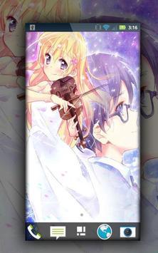 Shigatsu wa Kimi no Uso Wallpaper Fanart Anime apk screenshot