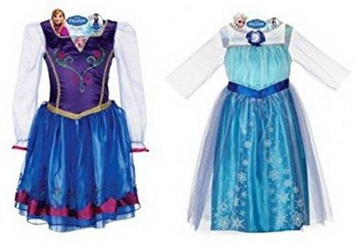 Anna And Elsa Dresses poster