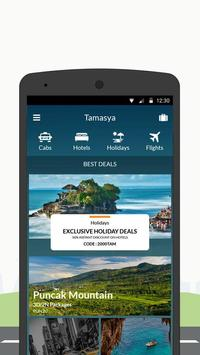 Tamasya - Cabs Holidays Flights Hotels Bookings screenshot 1
