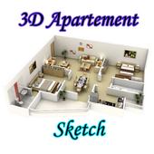 Apartment Sketch icon