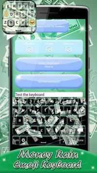 Money Rain Emoji Keyboard poster