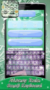 Money Rain Emoji Keyboard apk screenshot