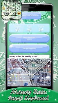 Money Rain Emoji Keyboard screenshot 4