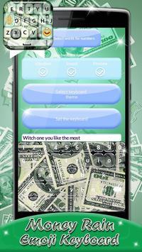 Money Rain Emoji Keyboard screenshot 5