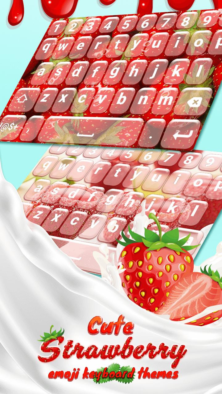 Cute Strawberry Emoji Keyboard Themes for Android - APK Download