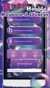 Soap Bubble Keyboard Design poster