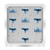 Drop heart lockscreen icon