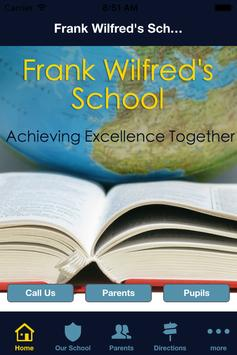 Frank Wilfred's School poster