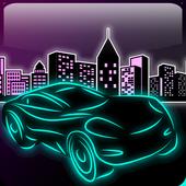 Car Racing Game 2017 Neon Glow icon