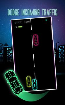 Car Racing Game 2017 Neon Glow screenshot 1