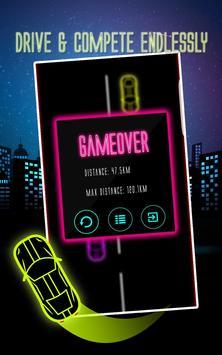 Car Racing Game 2017 Neon Glow screenshot 3
