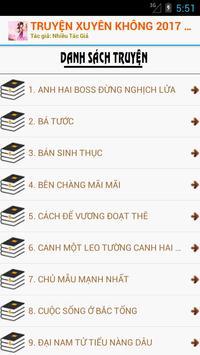 TRUYỆN XUYÊN KHÔNG 2017 - OFF screenshot 1