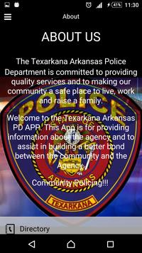 Texarkana Police Department apk screenshot