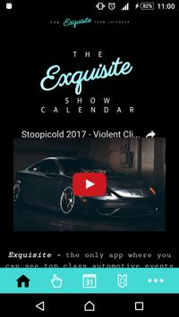 The Exquisite Show Calendar poster