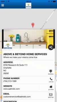 Above and beyond Home Services poster