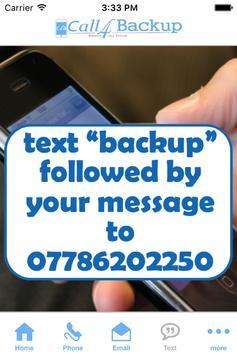 Call4Backup App apk screenshot
