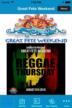 Great Fete Weekend poster