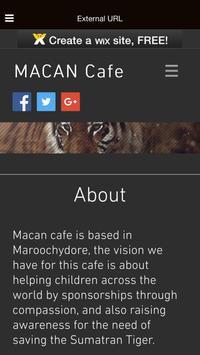 MACAN Cafe App apk screenshot