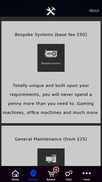 Bespoke Computers and Maintenance screenshot 1