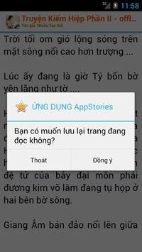 Truyện Kiếm Hiệp OFF Phần II apk screenshot