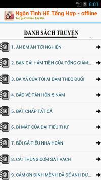 Truyện Ngôn Tình HE Offline apk screenshot