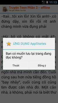 Truyện Teen Offline Phần II apk screenshot