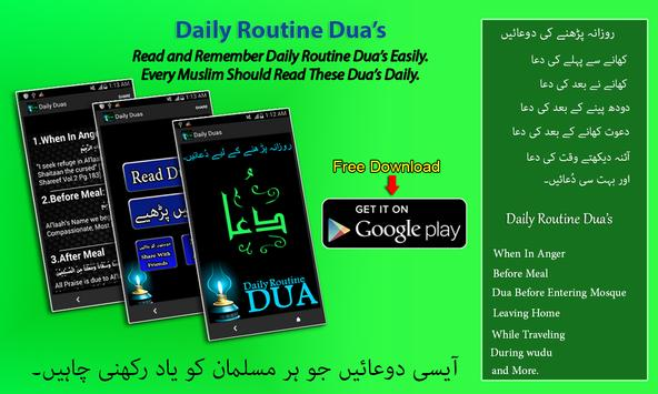 Daily Routine Dua's poster