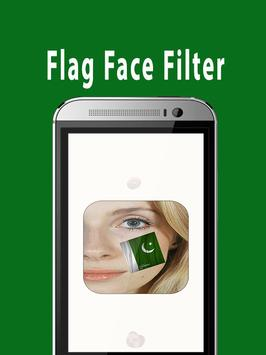 Flag Face Photo Frame Pakistan poster