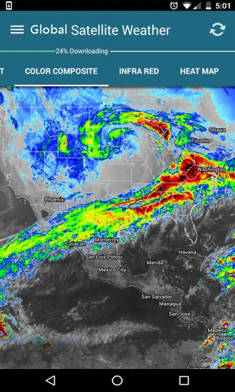Live Global Satellite Weather Radar Earth Map for Android