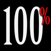 Percentage battery widget icon