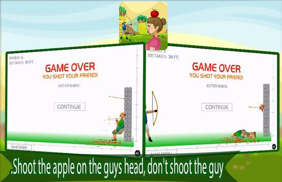 Apple Shooter Blood ARCHERY poster