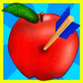apple arrow shooting game icon