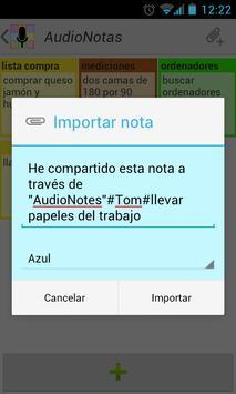AudioNotas apk screenshot