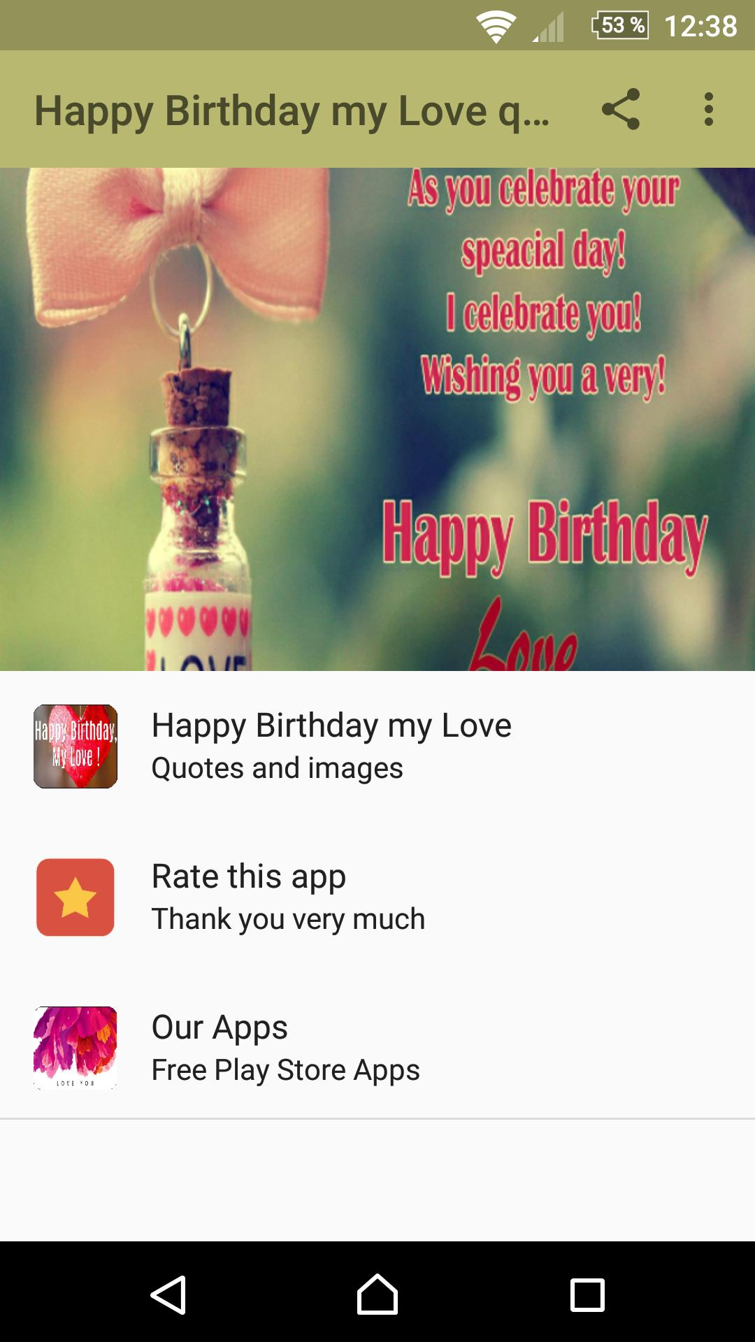 Happy Birthday My Love Quotes for Android - APK Download