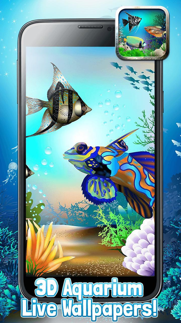 Akuarium 3D Wallpaper Hidup Dan Ikan Animasi For Android