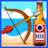 archery shoot beer bottles icon