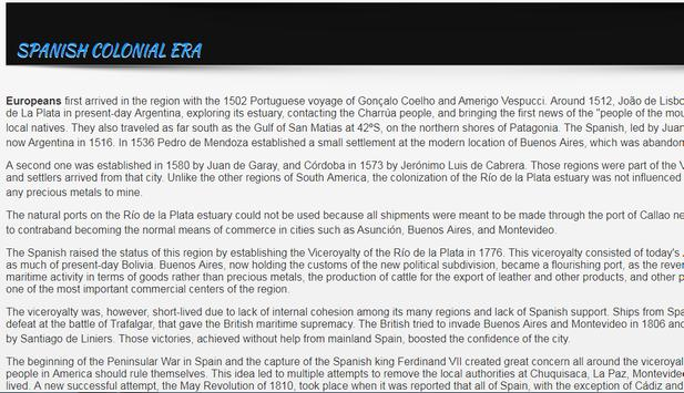 History of Argentina apk screenshot