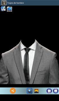 Trajes masculinos. Fotomontaje poster