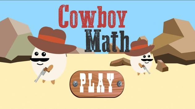 Cowboy Math : Egg Gunner Kids poster
