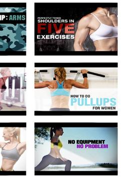 Arm Chest Workout for Women poster