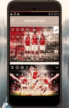 Keyboard For Arsenal Fans apk screenshot
