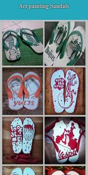 Art Drawing on Sandals poster